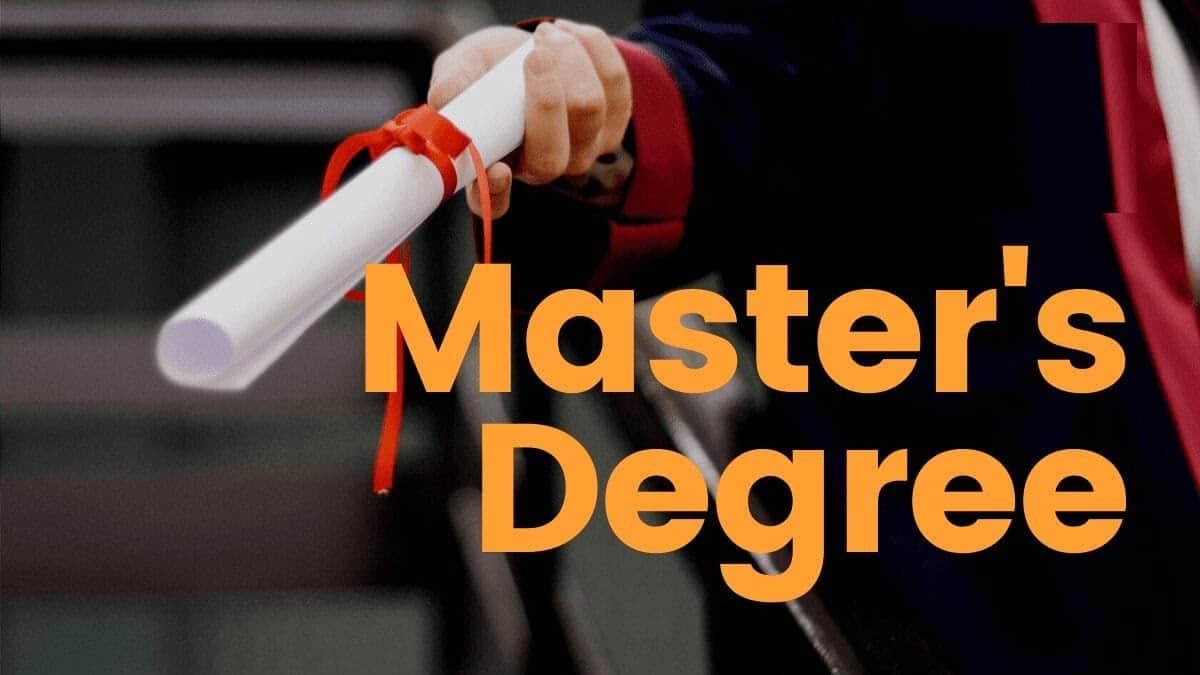 mster degree